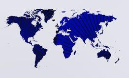 Рэй и worldmap Стоковое Изображение