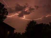 Рэй пересекая небо Стоковое Фото