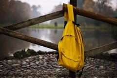 Рюкзак изолированный на белой предпосылке w/clipping Стоковое Изображение