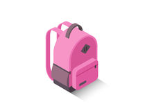 Рюкзак школы вектора равновеликий современный розовый Стоковое фото RF