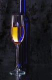 рюмка вина бутылки Стоковые Фото