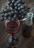 Рюмка вина французского nouveau божоле молодого красного Стоковая Фотография RF