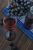 Рюмка вина Chianti итальянки молодого красного с пуком gr Стоковое Изображение RF