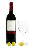 рюмки красного вина виноградины Стоковое фото RF