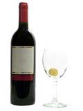 рюмки красного вина виноградины Стоковые Изображения RF