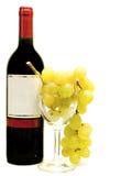рюмки красного вина виноградины Стоковые Фотографии RF