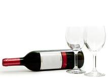 рюмки красного вина Стоковые Изображения