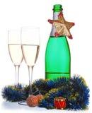 рюмки шампанского бутылки Стоковое Изображение RF