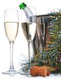 рюмки шампанского бутылки Стоковое Фото