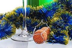 рюмки шампанского бутылки Стоковая Фотография