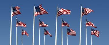 рядки американских флагов Стоковая Фотография RF