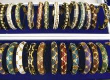 рядки золота bangles Стоковое фото RF