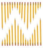 рядки карандашей стоковые изображения rf