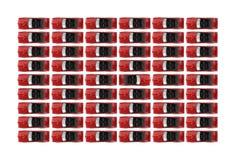 рядки красного цвета автомобилей с откидным верхом Стоковые Фотографии RF