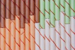 рядки кренов яичка цвета различные Стоковые Изображения RF