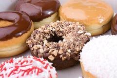 рядки donuts Стоковые Изображения