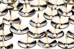 Рядки thumbtacks Стоковая Фотография