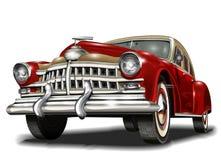 рядок автомобилей ретро иллюстрация штока