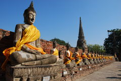 рядок Будды Стоковое Фото