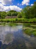 рядок Великобритания arlington bibury Стоковое Изображение RF