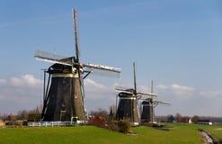 Рядок голландских станов ветра Стоковые Изображения RF