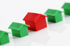 рядок домов модельный Стоковая Фотография RF