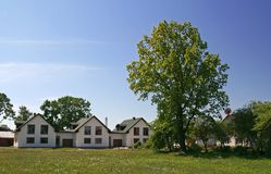 рядок домов Стоковая Фотография RF