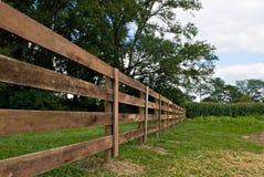 рядок загородки деревянный Стоковая Фотография
