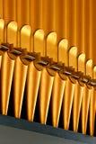 Рядок золотистых труб органа Стоковое Изображение RF