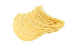 Рядок картофельной стружки Стоковые Фото