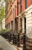 Рядок квартир в Гринич-виллидж, NYC Стоковое Изображение