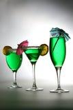 рядок коктеилов зеленый Стоковые Изображения