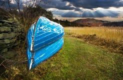 рядок ландшафта шлюпок Стоковые Фото