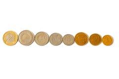 рядок монеток Стоковые Изображения