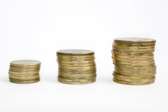 рядок монеток Стоковые Изображения RF