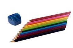 Рядок покрашенных карандашей Стоковое фото RF