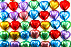 рядок сердец шоколада Стоковая Фотография