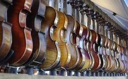 рядок скрипки Стоковое Фото