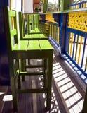 рядок стулов зеленый Стоковые Изображения RF