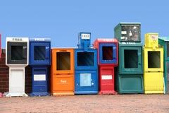рядок шкафов весточки различный стоковое изображение