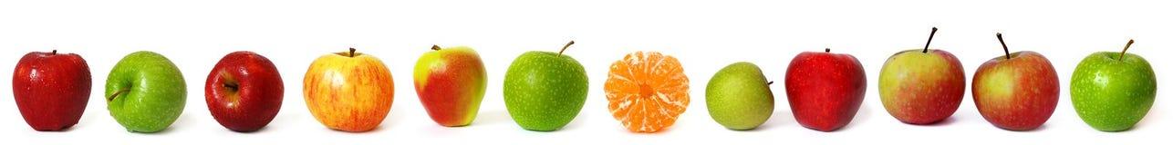 рядок яблок большой Стоковое Изображение