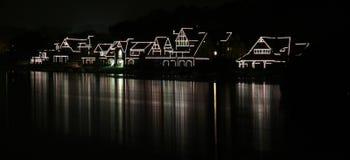 рядок boathouse Стоковое Изображение