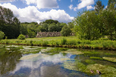 рядок gloucestershire arlington bibury Стоковая Фотография