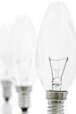 рядок lightbulbs Стоковые Изображения RF
