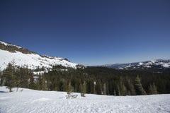 Ряды снежка Сьерры Невады Стоковые Фотографии RF
