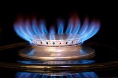 ряд газа пламени стоковая фотография