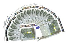 ряд евро 5 Стоковые Фотографии RF