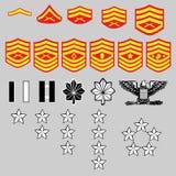 ряд морского пехотинца insignia corp мы Стоковое Изображение