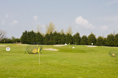 ряд практики гольфа Стоковое фото RF