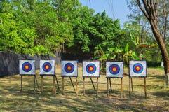 ряд archery Стоковые Изображения RF